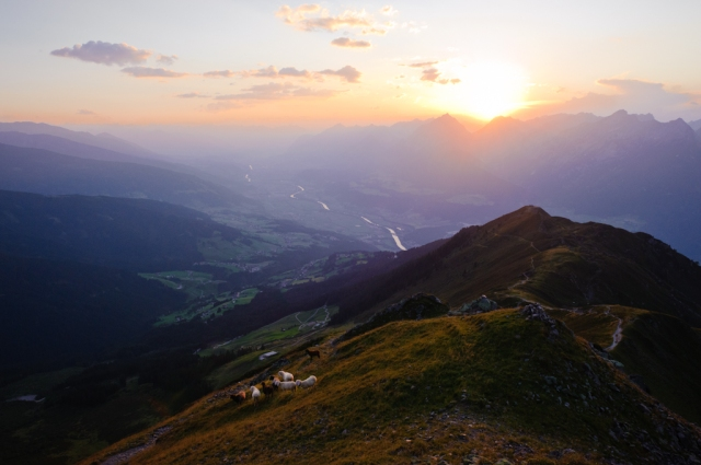 Blick auf das Inntal Richtung Innsbruck