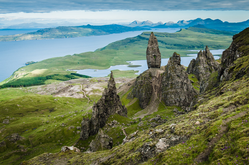 schottland isle of skye old man of storr unsere reisekiste. Black Bedroom Furniture Sets. Home Design Ideas