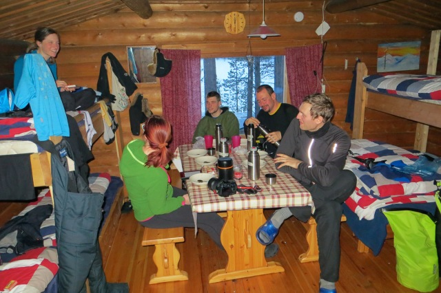 inside the third hut - Rinneranta